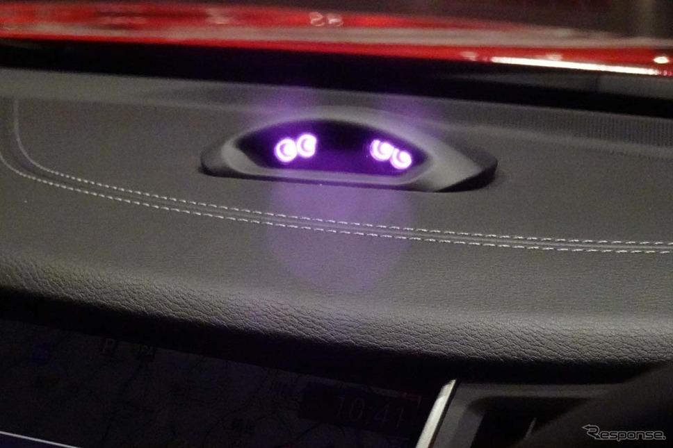 ドライバーの視線を監視する赤外線カメラ《撮影 会田肇》
