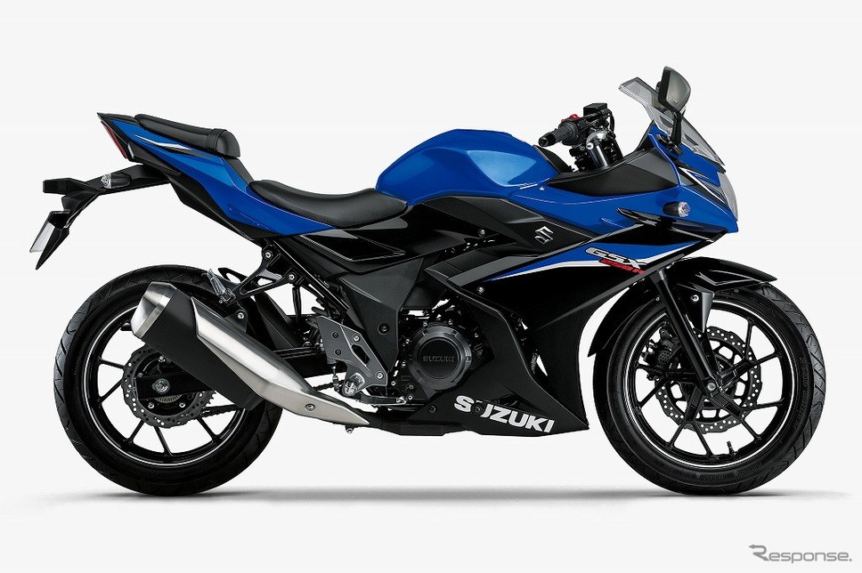 スズキ GSX250R クリスタルブルーメタリック/パールネブラーブラック