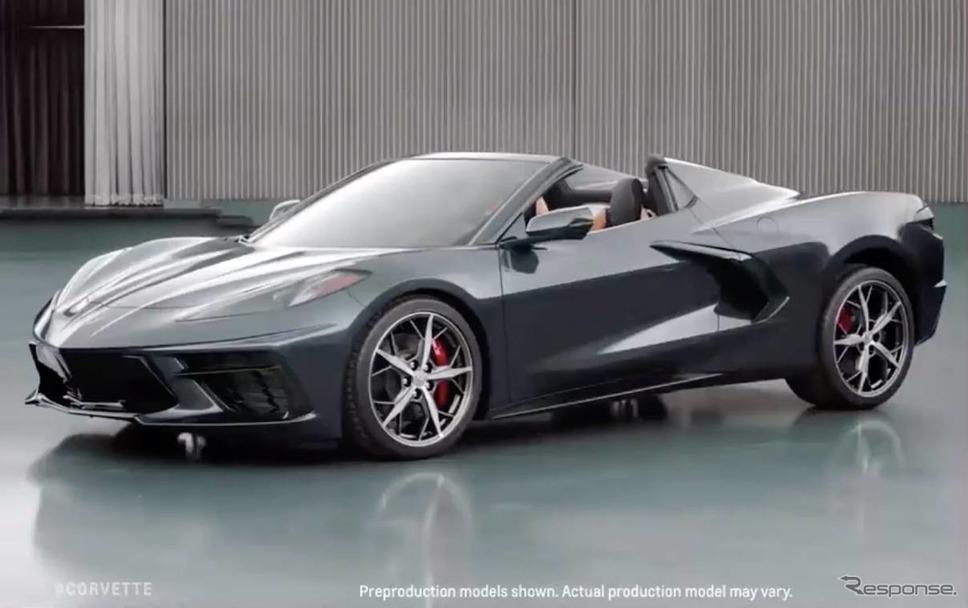 シボレー・コルベット・スティングレイ 新型のコンバーチブルのプリプロダクションモデル《photo by Chevrolet》