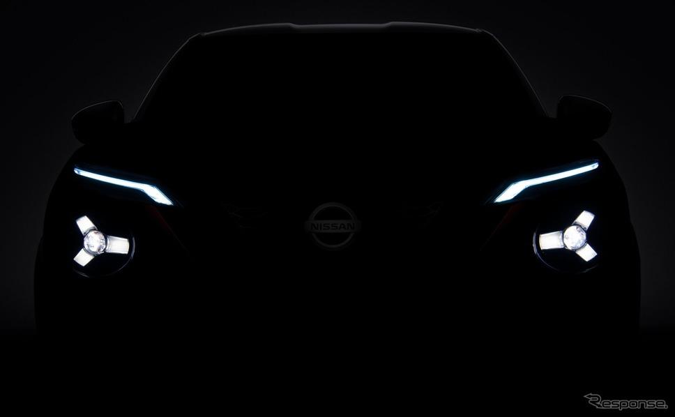 日産の新型車のティザーイメージ《photo by Nissan》