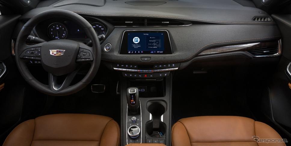 キャデラックの車載スクリーンから駐車場を予約し料金決済も可能なシステム《photo by Cadillac》