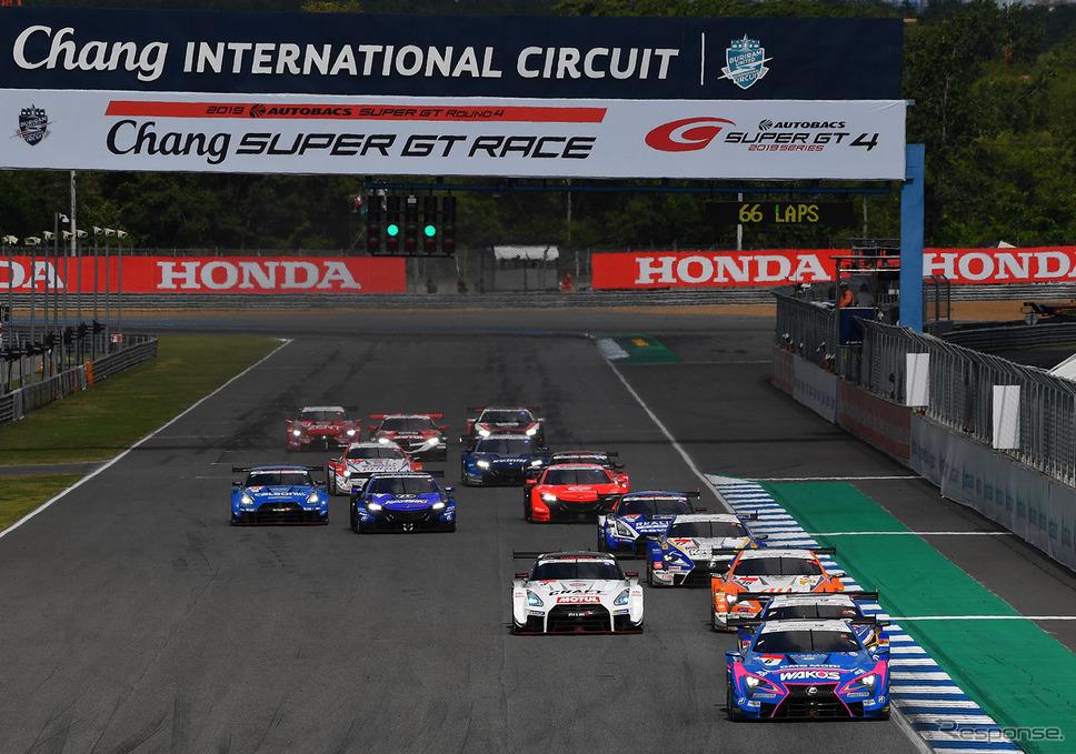 2019年SUPER GT タイ戦の模様。《写真提供 GTA》