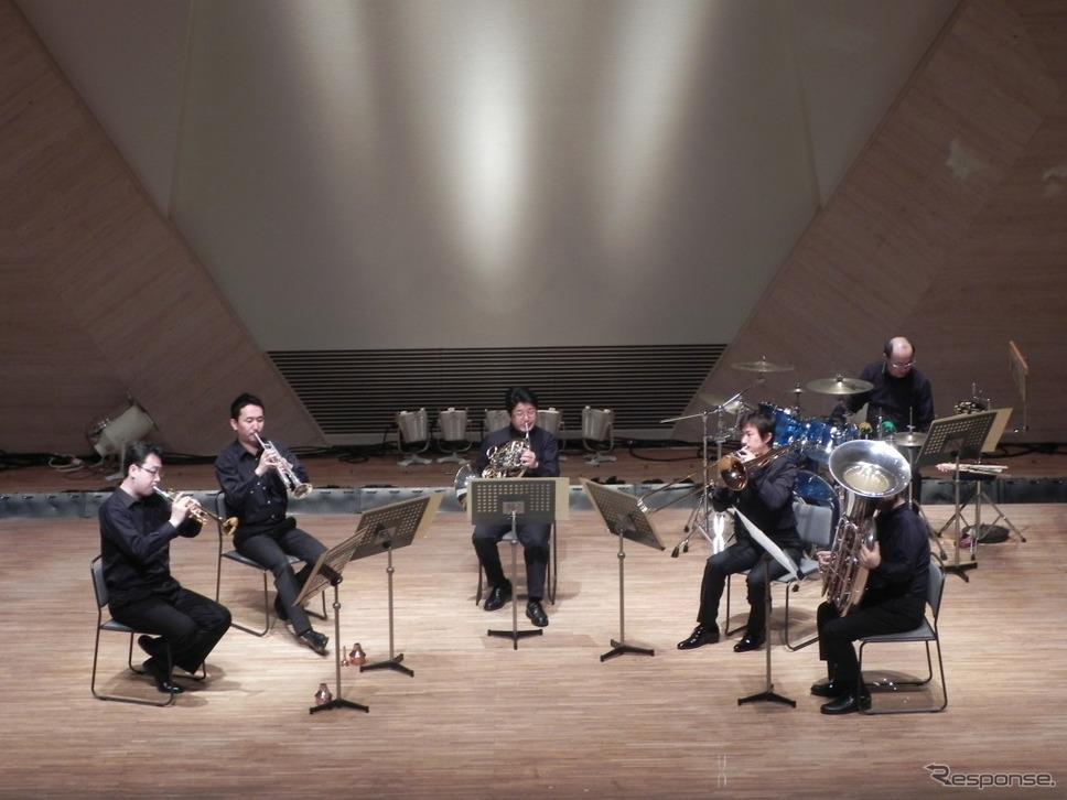 神奈川フィルハーモニー管弦楽団 ピクニックコンサート 金管五重奏《画像:日産自動車》