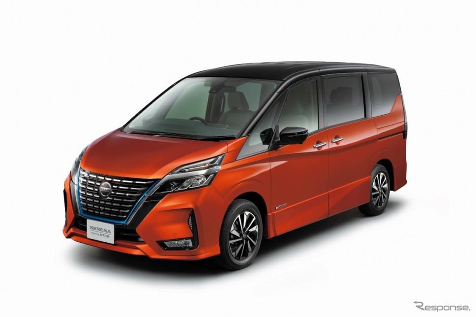 日産 セレナ e-POWER ハイウェイスターV(サンライズオレンジ/ダイヤモンドブラック)