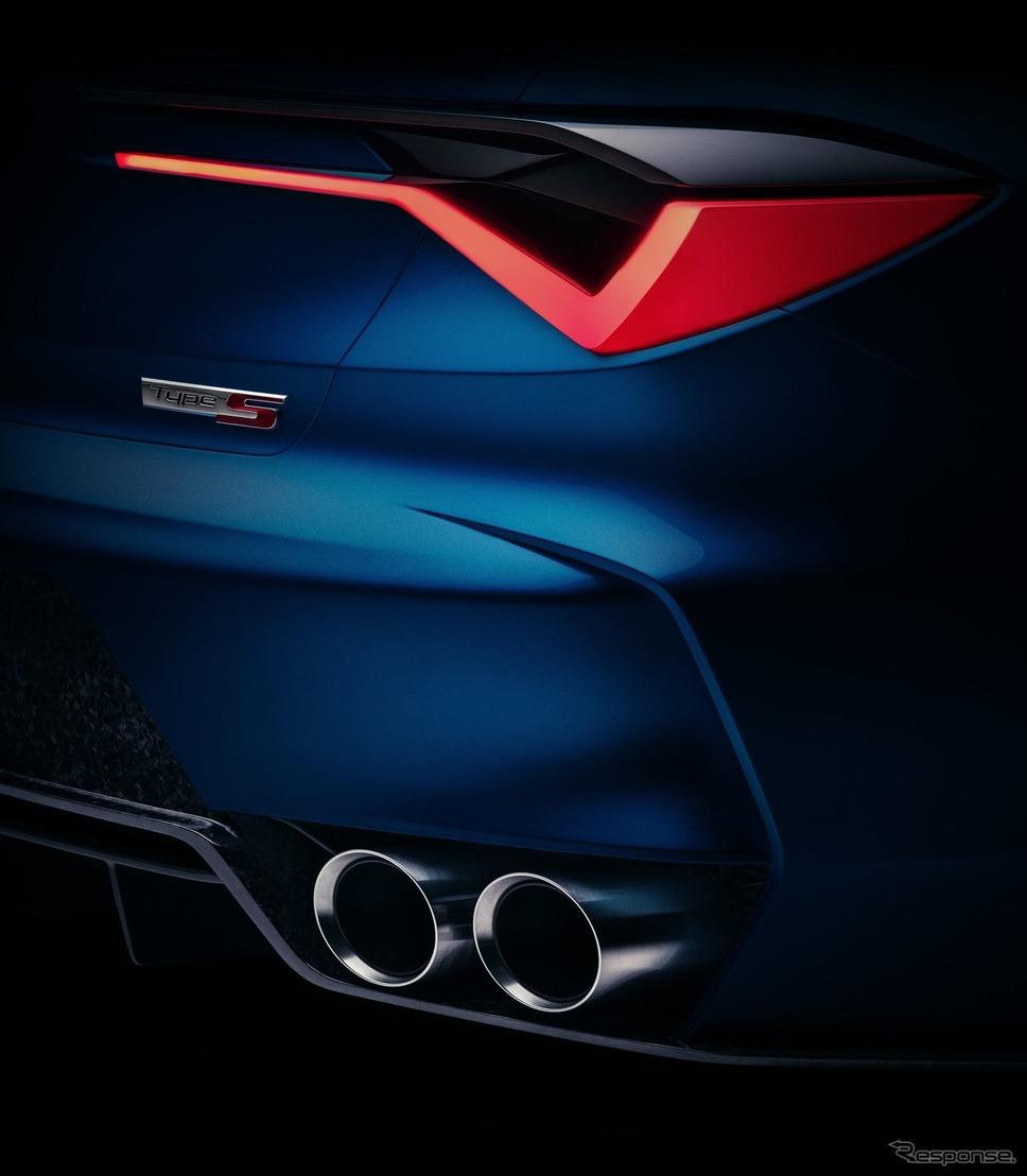 アキュラ・タイプS コンセプトのティザーイメージ《photo by Acura》