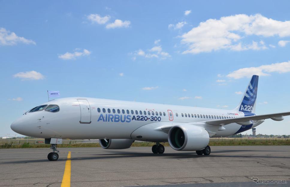 エアバスA220。ボンバルディアのCシリーズから改名《photo: Airbus》