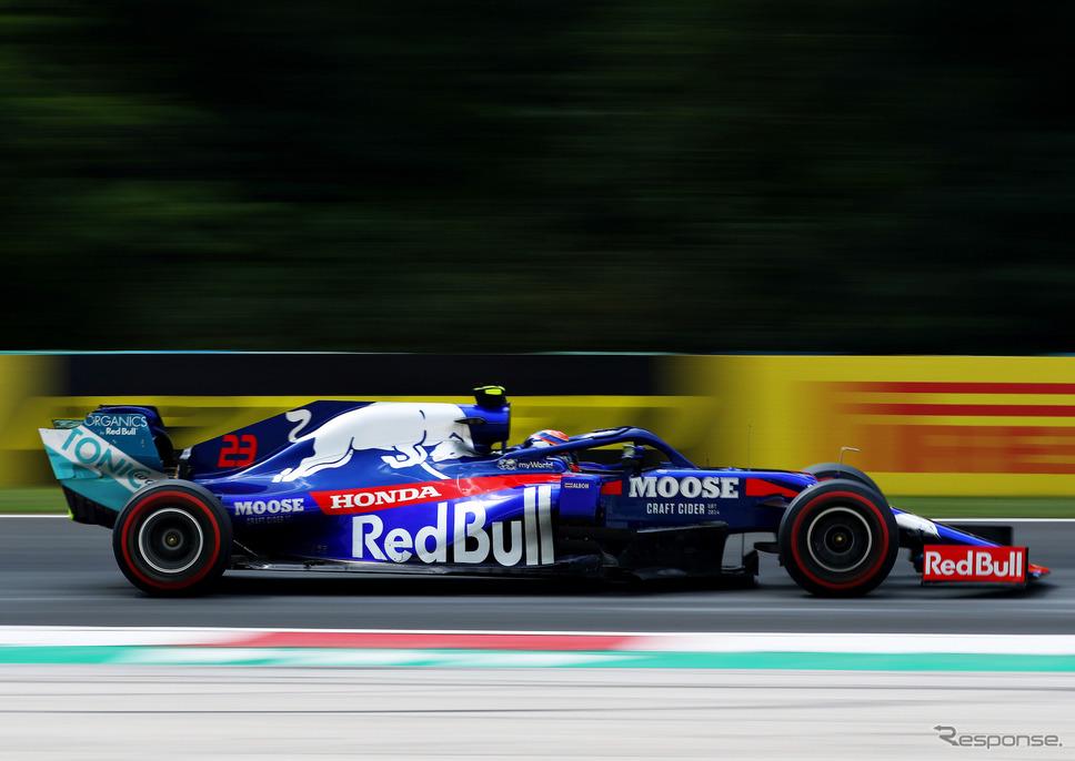 今季前半、トロロッソで走っていた#23 アルボン。《写真提供 Toro Rosso》