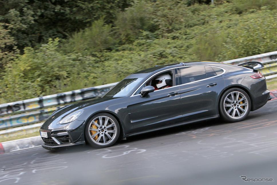 ポルシェ パナメーラ 高性能モデルの開発車両(スクープ写真)《APOLLO NEWS SERVICE》