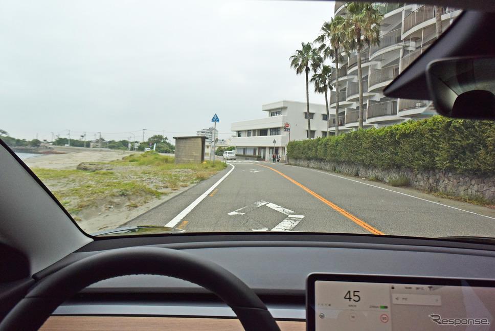 モデル3のドライブフィールは想像以上に爽快なものだった。《撮影 井元康一郎》