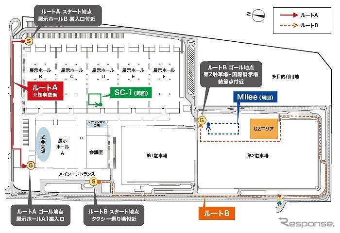 8月30日の実証実験の走行ルート《画像 NTTドコモ》