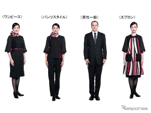 JALの新制服(客室乗務員)《写真 JAL》