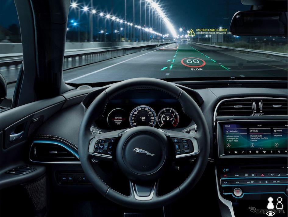 ジャガー・ランドローバーが開発中の次世代3Dヘッドアップディスプレイ《photo by Jaguar Land Rover》