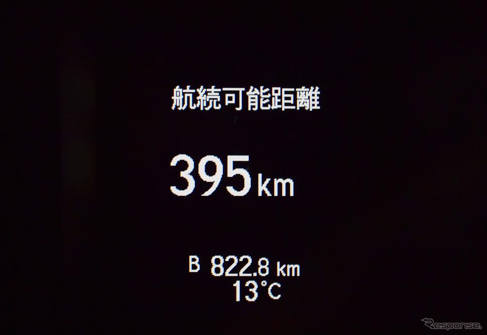 総走行距離822.8km。《撮影 井元康一郎》