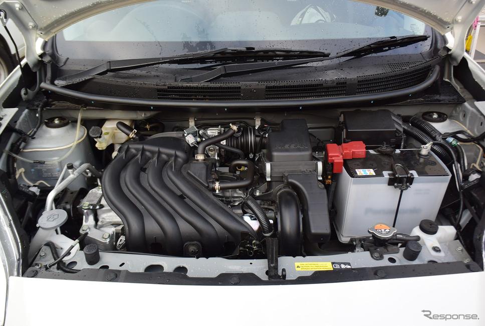 1.5リットルエンジン。性能は大したことはないが、軽量ボディに大排気量エンジンの組み合わせによるパンチ力は出ていた。《撮影 井元康一郎》