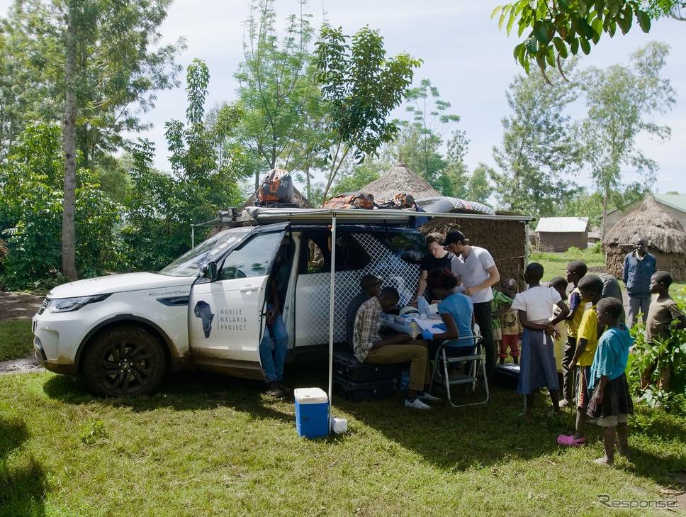 ランドローバー・ディスカバリーがベースの移動式「遺伝子検査ラボ」《photo by Land Rover》