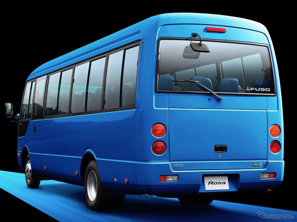 三菱ふそうローザ2019年モデル撮影用特別仕様《写真 三菱ふそうトラック・バス》