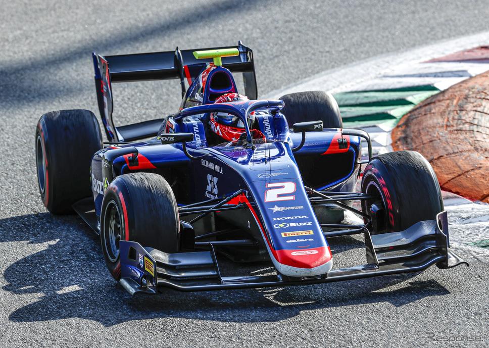 モンツァでのFIA-F2では、#2 松下信治がレース1で優勝。《写真提供 Honda》