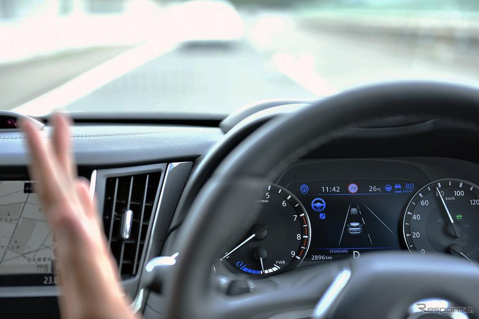 高速道での手放し運転を実現した「プロパイロット2.0」を試した。《撮影 中野英幸》