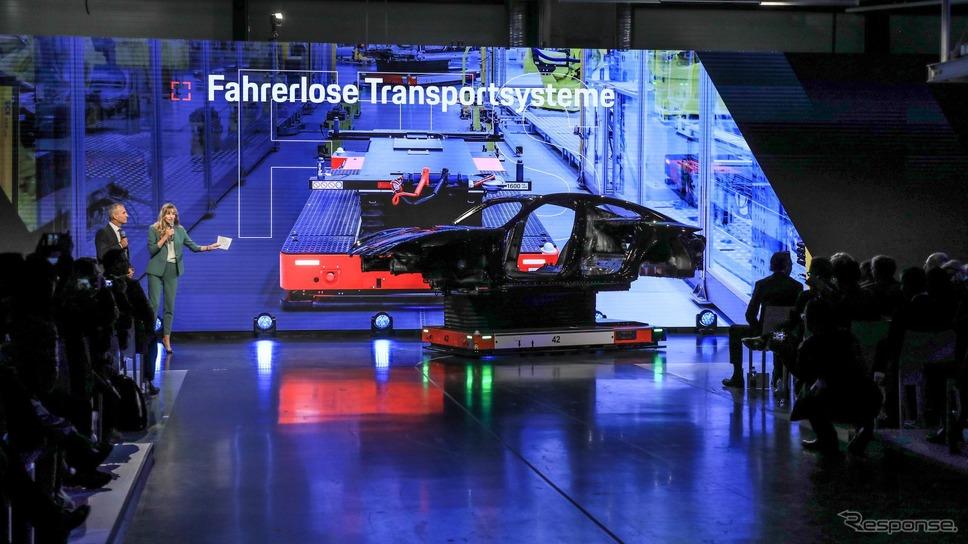 ポルシェ初のEVのタイカンの生産工場《photo by Porsche》