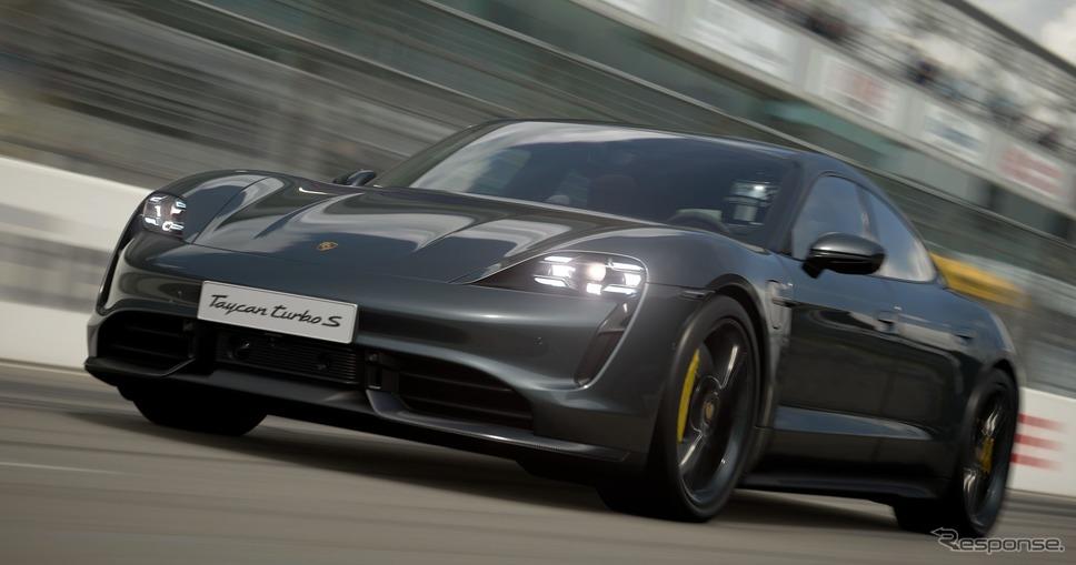 『グランツーリスモSPORT』に収録されるポルシェ・タイカン《photo by Porsche》
