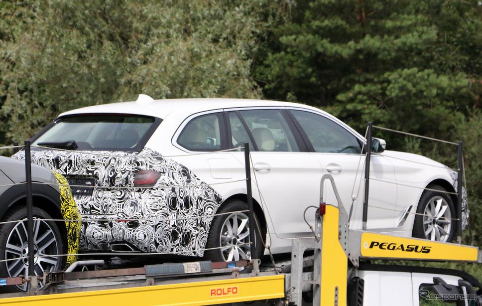 BMW 5シリーズ ツーリング 改良新型 スクープ写真《APOLLO NEWS SERVICE》