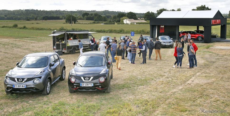 フランスで開催された日産 ジューク 新型の一般向け初公開イベント「フランクフルトモーターショー」《photo by Nissan》