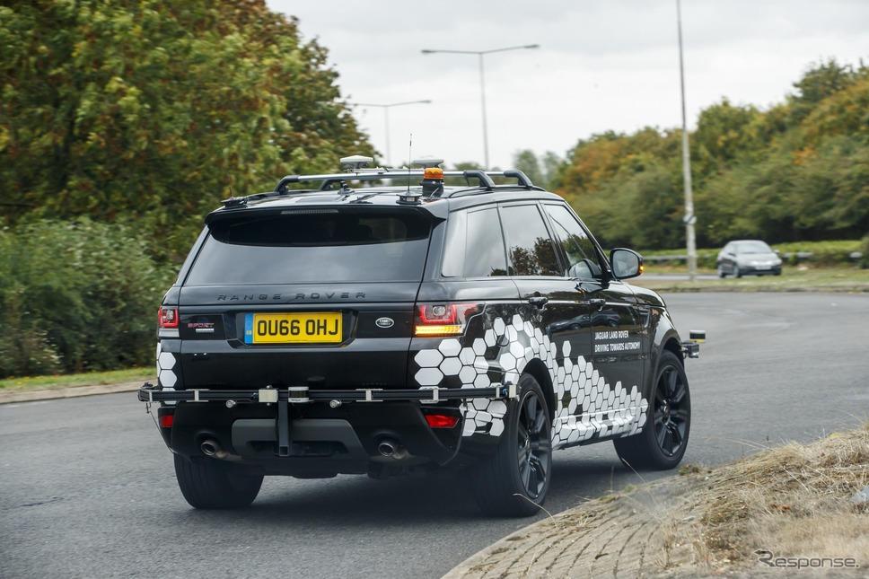 ジャガー・ランドローバーの自動運転テスト車《photo by Jaguar Land Rover》