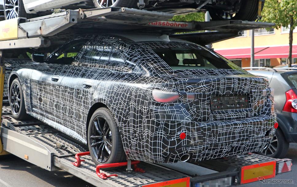 BMW 4シリーズ グランクーペ 開発車両スクープ写真《APOLLO NEWS SERVICE》