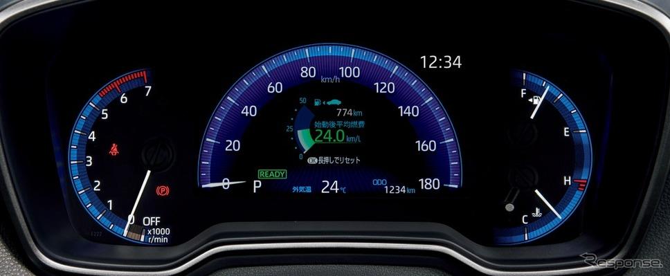 トヨタ・カローラ、オプティトロンメーター+7インチTFTカラーマルチインフォメーションディスプレイ《画像:トヨタ自動車》