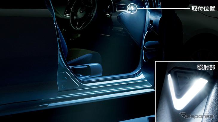 LEDスマートフットライト《画像:トヨタカスタマイジング&ディベロップメント》