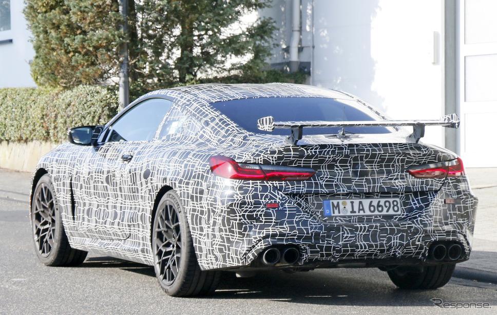 BMW M8クーペ CS テスト車両(スクープ写真)《APOLLO NEWS SERVICE》