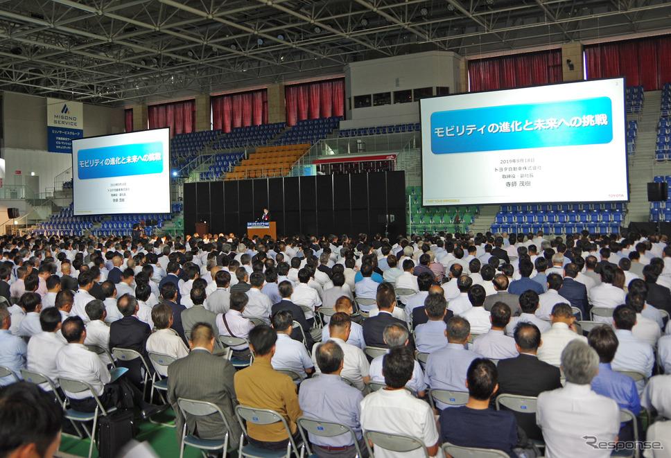 9月18日に開幕した「名古屋オートモーティブワールド2019」の基調講演に、トヨタ自動車の寺師茂樹副社長が登壇《撮影 宮崎壮人》