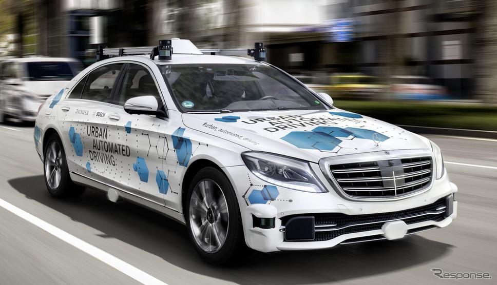 メルセデスベンツ Sクラス ベースの最新自動運転プロトタイプ車《photo by Mercedes-Benz》