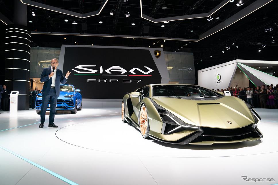ランボルギーニ・シアン FKP 37(フランクフルトモーターショー2019)《photo by Lamborghini》