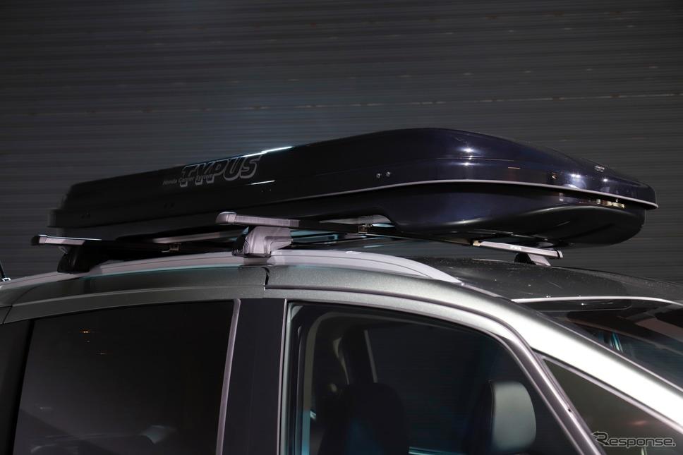 ホンダ フリード 改良新型 ホンダアクセス用品装着車《撮影 小林岳夫》