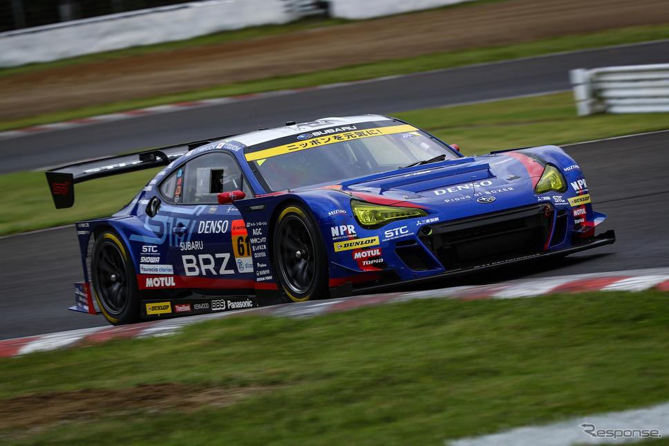 GT300クラスのポールポジションを獲得した#61 BRZ。《撮影 益田和久》