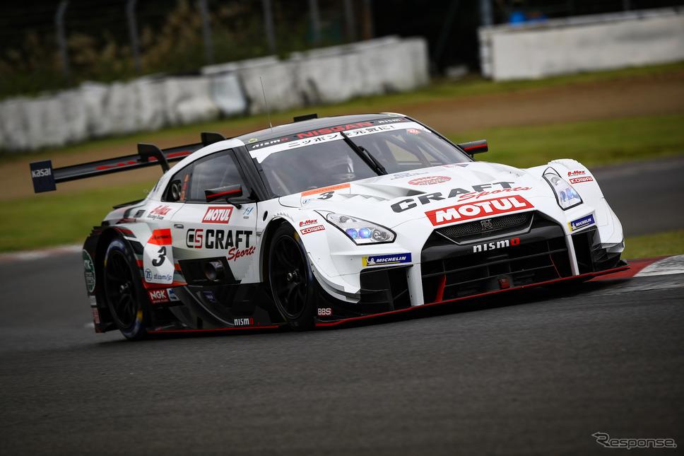 GT500クラス予選7位の#3 GT-R。《撮影 益田和久》