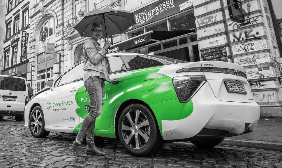 ドイツのライドシェア企業、クレバー・シャトル社のトヨタ・ミライ《photo by Toyota》