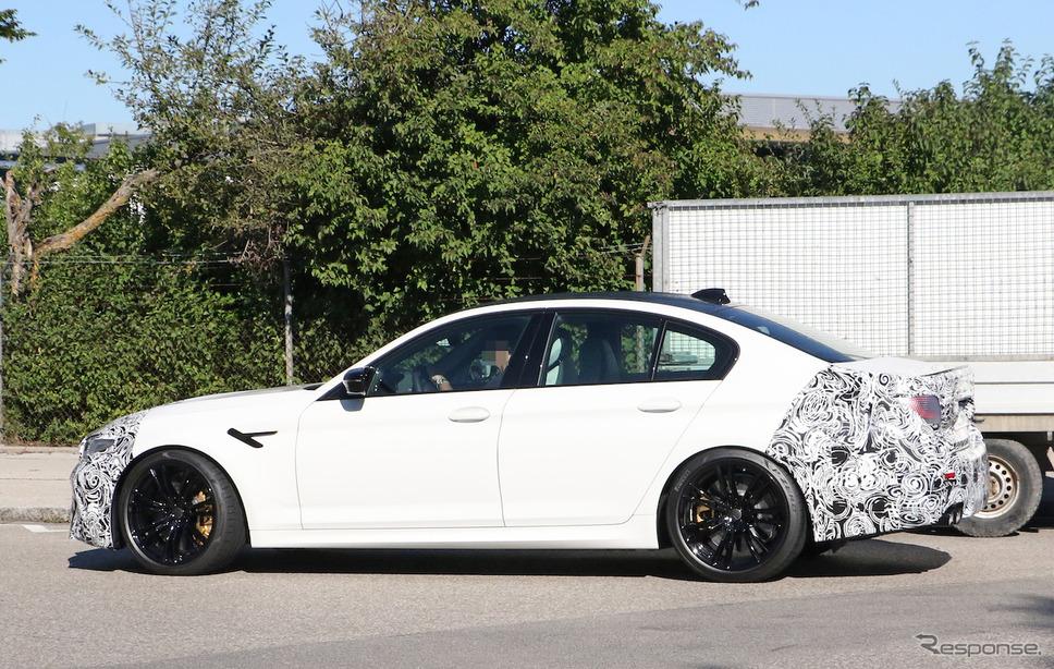 BMW M5 改良新型 スクープ写真《APOLLO NEWS SERVICE》