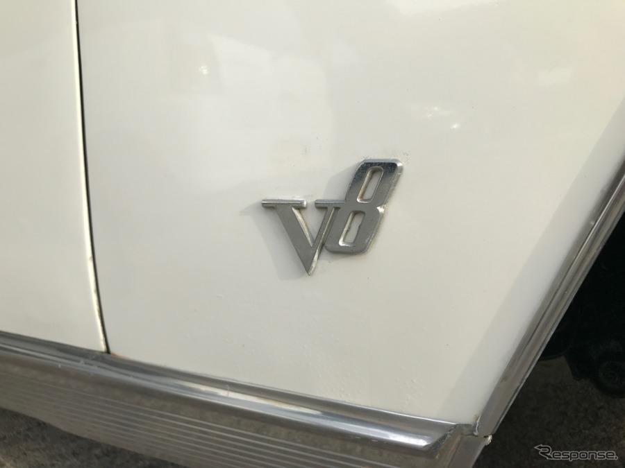 6気筒モデルも用意された初代プレジデント。V8モデルには誇らしいエンブレムが備わる。《撮影 中込健太郎》