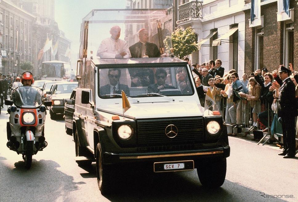 メルセデスベンツ「230Gポープモービル」(1980年)《photo by Mercedes-Benz》
