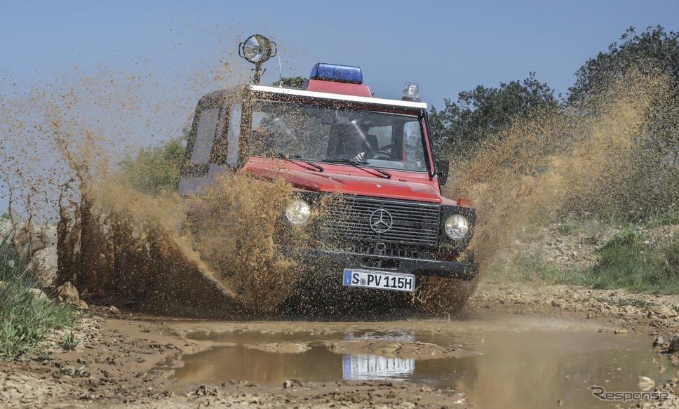 メルセデスベンツ「230GE」の軍用消防パトロール車(1982年)《photo by Mercedes-Benz》