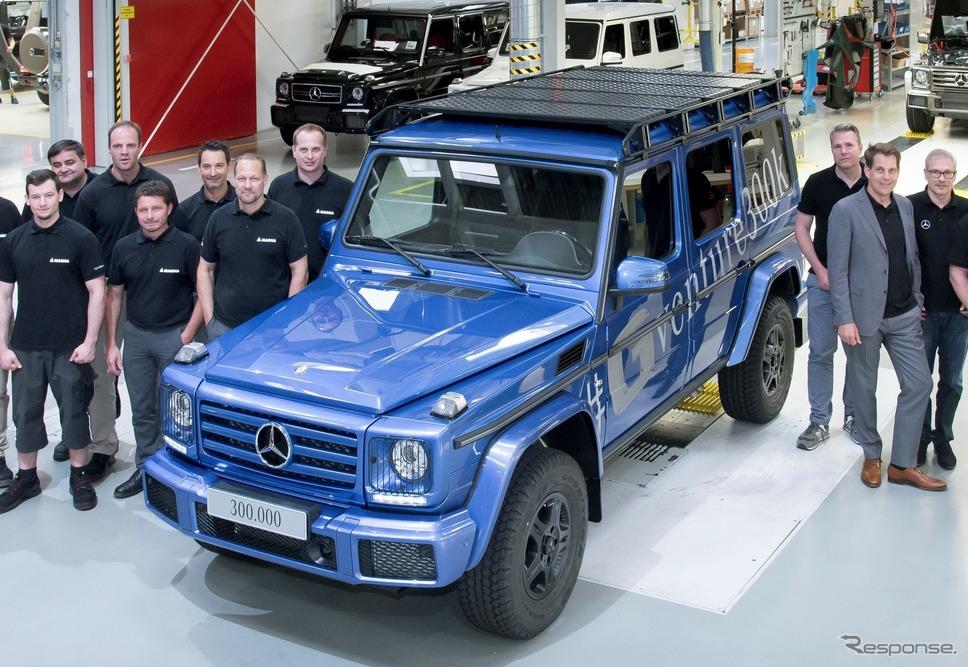 メルセデスベンツGクラス累計生産30万台目の「G500」(2017年)《photo by Mercedes-Benz》