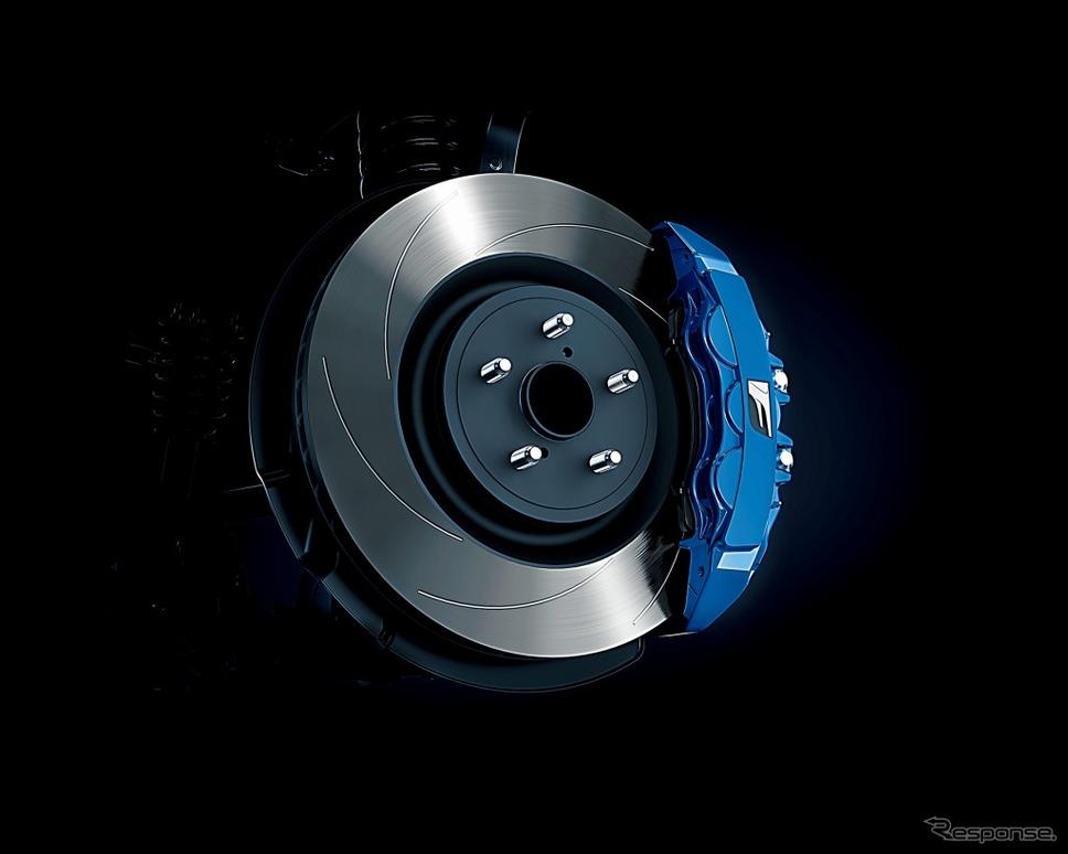 F専用ブルーブレーキキャリパー《画像:トヨタ自動車》