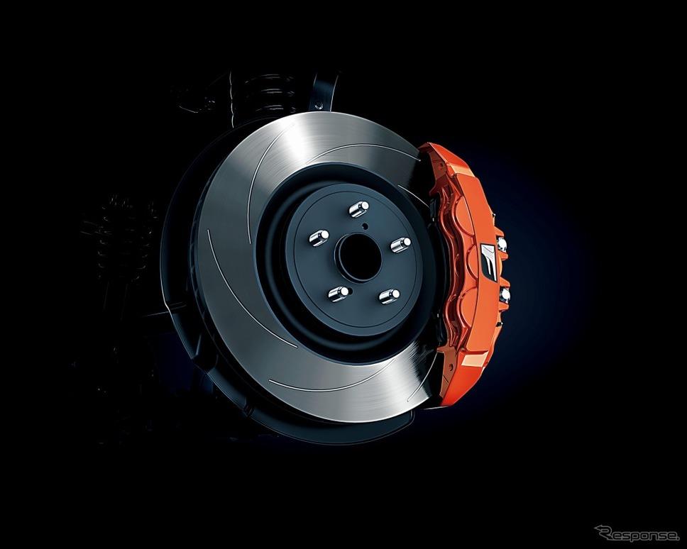 F専用オレンジブレーキキャリパー《画像:トヨタ自動車》
