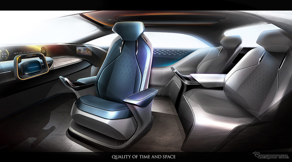 近未来の自動運転を想定したインテリアスペース MX191(Mobility eXperience)《画像:トヨタ紡織》