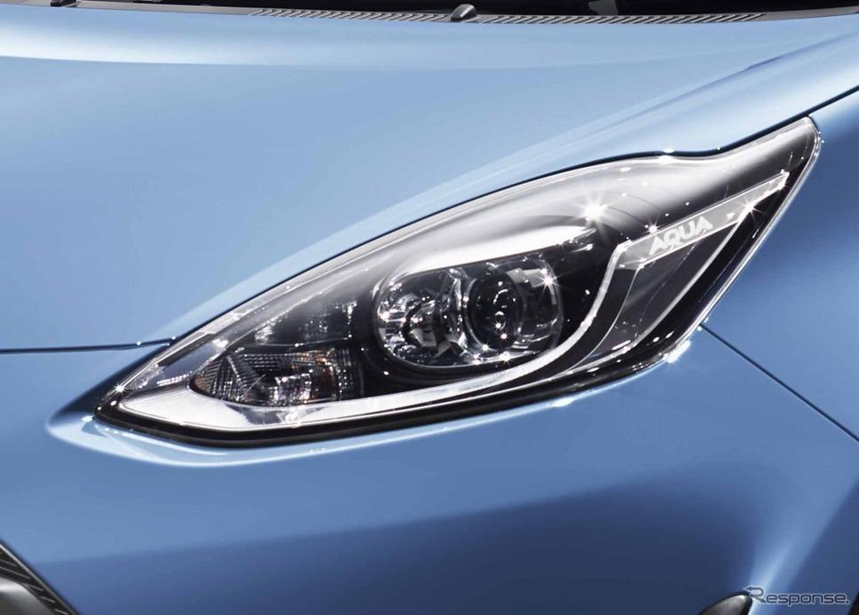アクア 特別仕様車 S グランパー 専用LEDヘッドランプ《画像:トヨタ自動車》