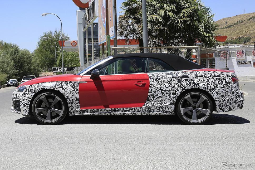 アウディ S5 カブリオレ 改良新型 開発車両 スクープ写真《APOLLO NEWS SERVICE》