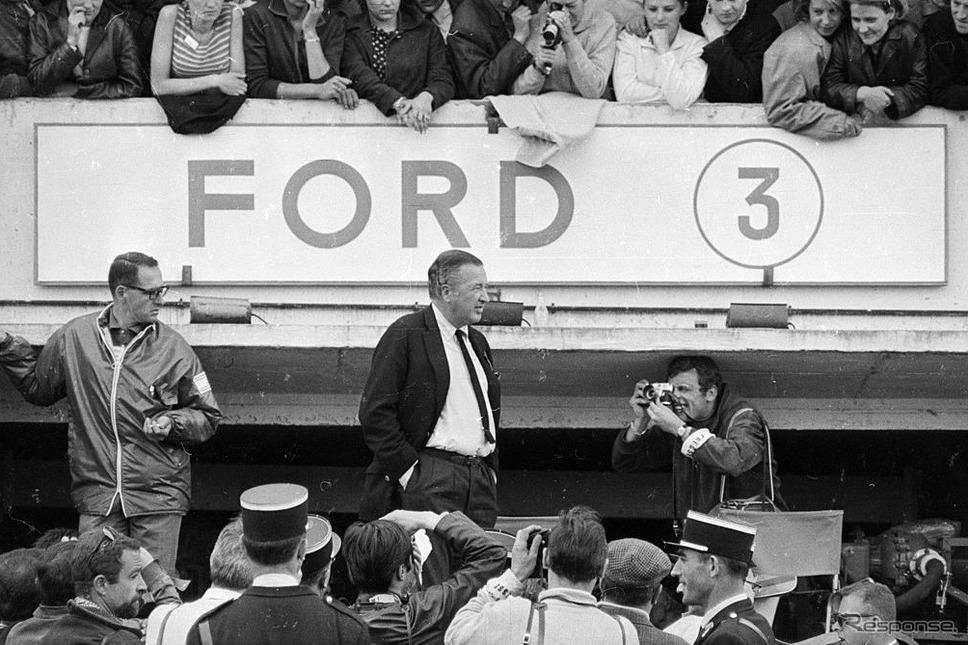1966年ルマンに現れたヘンリー・フォード2世。《photo by Getty Images》