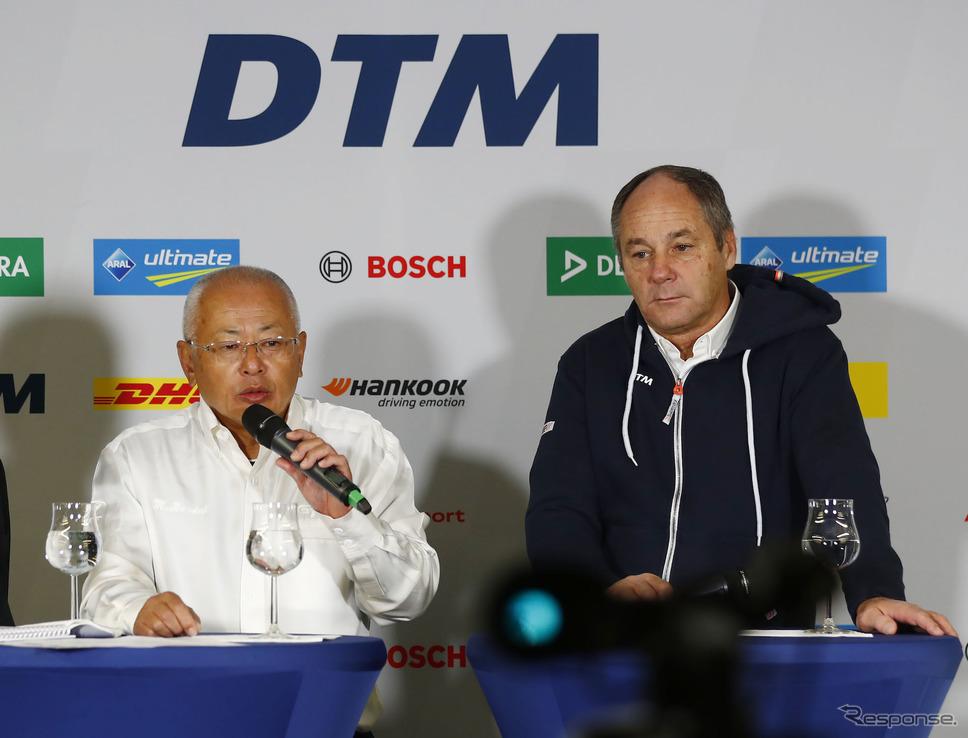 両シリーズの代表、坂東氏(SUPER GT)とベルガー氏(DTM)。《写真提供 DTM》